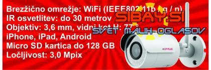 3.0Mpix zunanja IP kamera z Wi-Fi in IR