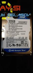 320GB Sata III hdd WD Blue wd3200bpvt 2.5 – za prenosnik