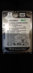 250GB Sata III hdd WD Black WD2500bekt 2.5 – za prenosnik