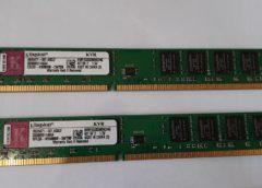 2x2GB DDR3 1333mhz Kingston LP