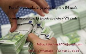 Ponudba posojila, ki jo potrebujete v 24 urah