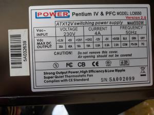 550W LC Power LC6550 V2.0 napajalnik